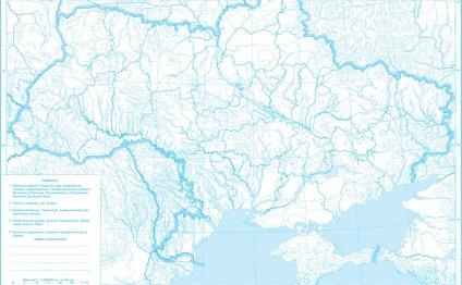 контурная карта украины по
